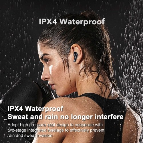 5.0 TWS BT5.0 Earphone True Wireless Sport Headphone LED Display Touch Headset Active Noise Reduction Earbuds