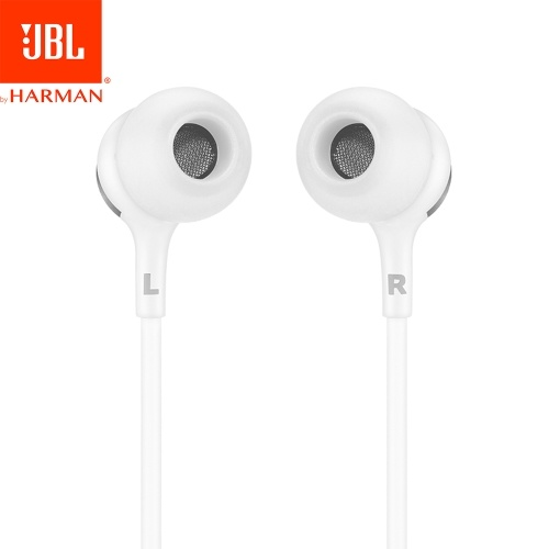 JBL LIVE100 3.5mm In-ear Headphone with Mic Stereo Sound Line Control Headphones Dynamic Headset Heavy Bass Sound Headphone with 1.2m Cable Earphone for Phones Tablet Laptops with 3.5mm Interface