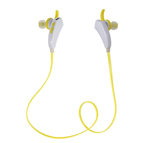 Fashionable Sports Bluetooth Headset Bluetooth 4.1 Pure Sound Headphone Hands-free Audio-Play Multifunctional Earphone Yellow for iPhone 6S 6 6 Plus Samsung S6 S5 Note 4 HTC  Tablet PC  Laptop Desktop