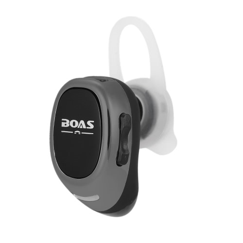 BOAS LC-100 Mini Wireless Bluetooth Stereo Headphone Bluetooth 4.1 In-ear Earphone Invisible  Headset Hands-free with Mic Earbud Pink for Android / iOS / Windows Phone Tablet PC Laptop Other Bluetooth-enabled Devices