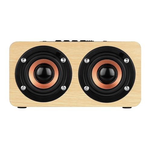 W5 Red Wood Grain Speaker BT 4.2 Light
