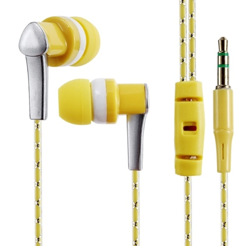 3.5mm Wired Headphone In-Ear Headset Stereo Music Smart Phone Tablet PC Earpiece Earphone Cable Blue thumbnail