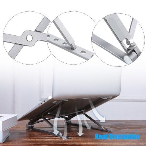 Подставка для ноутбука Docooler Девять уровней Регулируемая подставка для ноутбука Универсальный алюминиевый сплав Портативная вентилируемая подставка для ноутбука фото