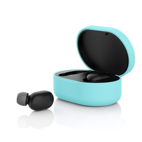 Silicone Protective Cover TWS Earphone Case Cover Compatiable with Xiaomi Redmi Airdot Headset Wireless Earphone Protection Case 8 Colors Optional
