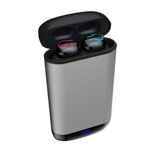 HBQ-Q66 True Wireless Наушники Bluetooth 5.0 + EDR TWS Наушники 6000mAh Зарядный блок Дисплей питания IPX5 Водонепроницаемая мини спортивная гарнитура с двумя микрофонами