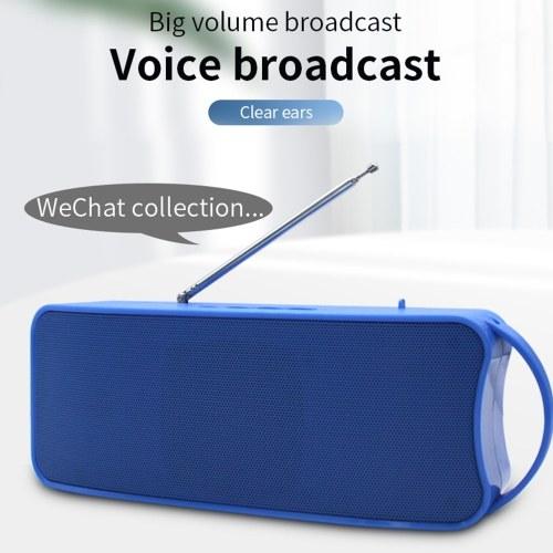 838 Беспроводной динамик Bluetooth 4.1 Player Портативный сабвуфер Звук Несколько звуковых эффектов Поддержка громкоговорителей AUX TF USB FM фото
