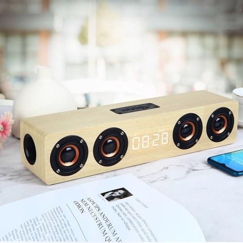 W8C Moderno Simples Portátil Speaker Relógio Tela de Exibição de Alta Definição Multi-Função Despertador BT Pequeno Alto-falante