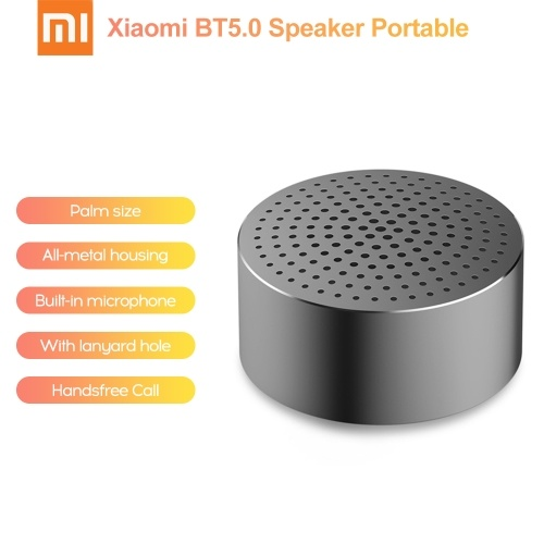 Xiaomi BT5.0 Speaker Aux-in Portable Stereo Handsfree Call Wireless MP3 Player All Metal Housing (Grey)