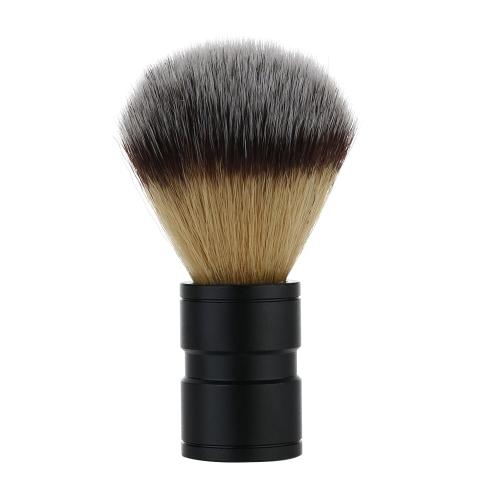1pc Herren Nylon Rasier Pinsel Metall Aluminiumoxid Handle Razor Sets männlichen Bart & Gesicht Reinigung Werkzeug schwarz