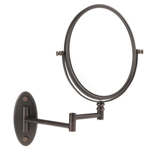 ファミリーホテルのための化粧鏡をシェービング伸縮回転式ダブル両面ハンギングメイク折りたたみオーバル楕円7X倍率ウォールマウントバスルーム