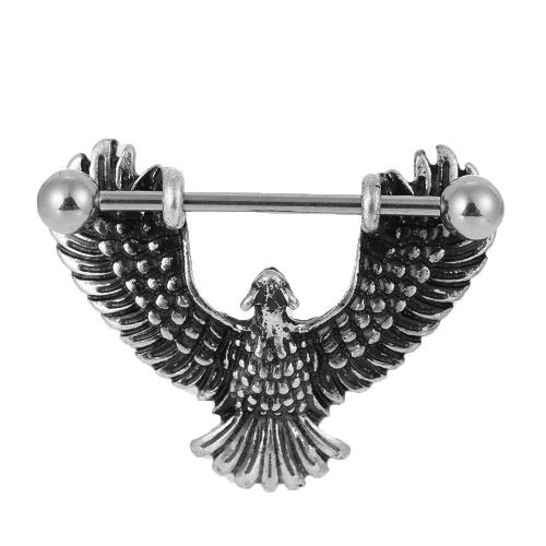Joyas Acero pezón anillo de la barra con barra de acero atractivo Escudo para el pezón la perforación del cuerpo para hombres y mujeres