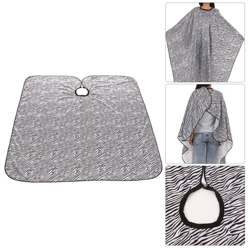 Zebra-Streifen Friseur-Schürze Cape Haartuch Shampoo Kleid Cape Haar-Ausschnitt-Färbung Färben Perming Cape Friseur Cloth