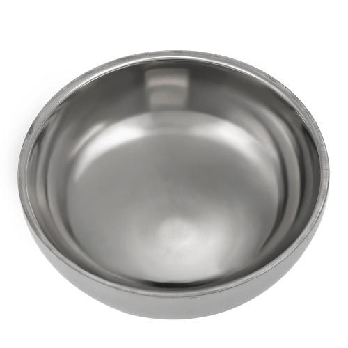 Rasatura tazza ciotola d'argento Barber acciaio inossidabile di rasatura maschile di Coppa del rasatura Bowl per Razor fronte maschio pulizia Sapone tazza Strumento