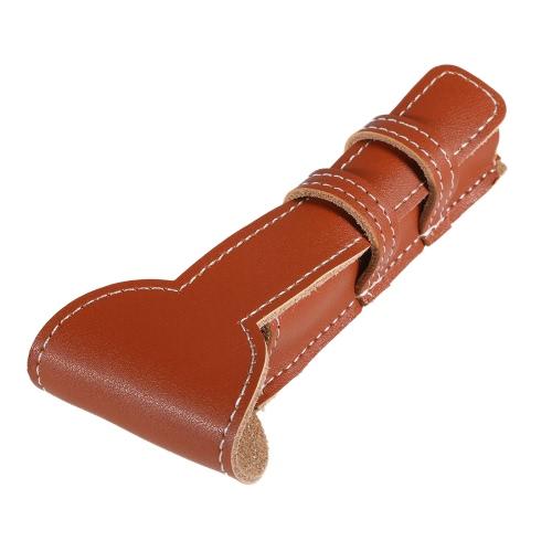 Brown Kuhfell Safety Razor Ledertasche Classic Double Edge-Shaving-Leder-Beutel-Rasiermesser-Halter-Beutel