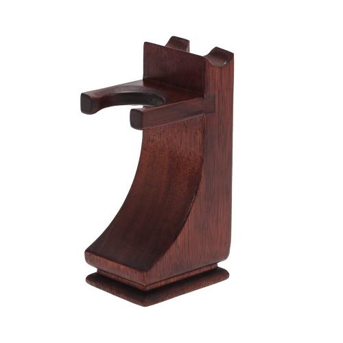 Sostenedor del soporte de afeitar de la maquinilla de afeitar cepillo de madera maciza de afeitar herramienta Organizador
