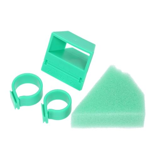 1セット歯科用オートクレーブ可能なプラスチックエンドクリーン測定フィンガースタンドホルダールーラー高品質歯科用エンドフィンガーリング