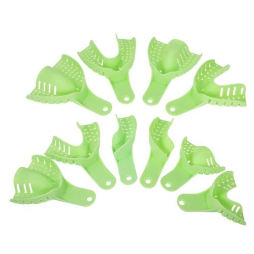 10個のプラスチック製の歯科印象トレイU形状の歯のホルダーオートクレーブ可能な器械口腔ヘルスケア歯科用ツール