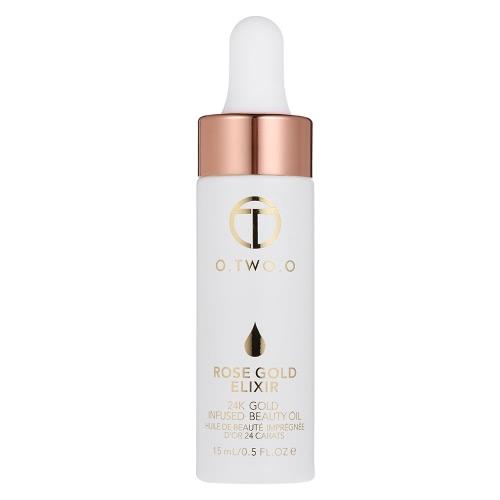 O.TWO.O 24K Rose Gold Elixier Hautpflege Schönheit Ätherisches Öl Anti Aging Essenz Öle Gesicht Lippen Heben Falten Entferner