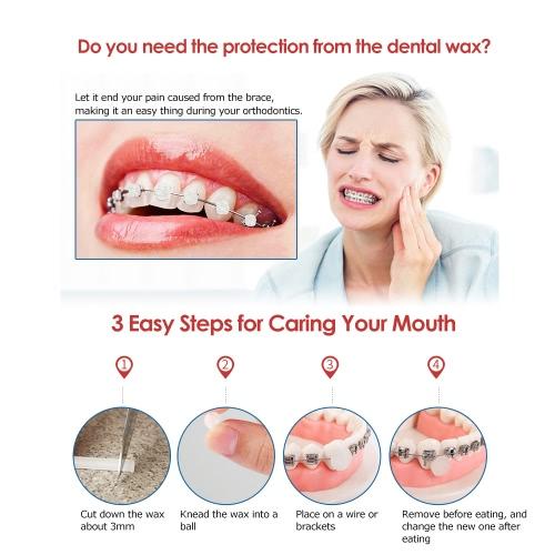 5 Boxes/pack Brace Gum Irritation Relief Wax For Braces Wearer Protector Dental Orthodontics Teeth Oral Hygiene Care Mint Fruit Flavor