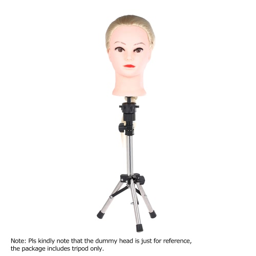 Anself Mini Training Head Stand Mannequin Holder Adjustable Wig Tripod Hairdressing Hair Stand