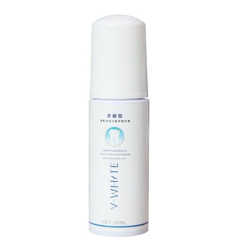 Пена для зубной пасты 60 мл Глубокая очистка зубов Отбеливание Зубная паста Жидкая естественная вода для мытья полости рта