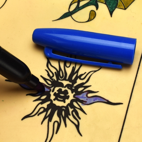 6 цветов татуировки перо водонепроницаемый пластиковые татуировки передачи кожи маркер красочные постоянные макияж ручка татуировки аксессуары фото