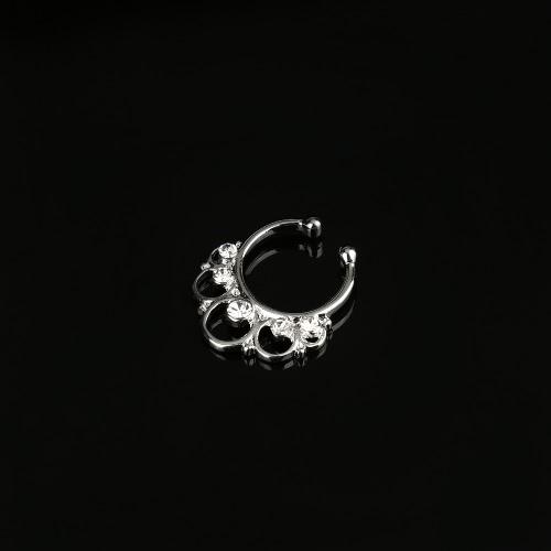 Mujer falsa nariz anillo tabique cuerpo clip nariz no-piercings