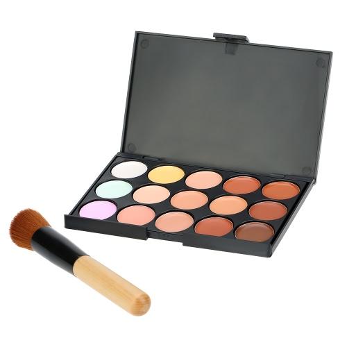 15 cores Taurus compõem corretivo Facial Cream paleta #1 com maquiagem pincel contorno camuflagem cosmética ferramenta tamanho Mini para mulheres