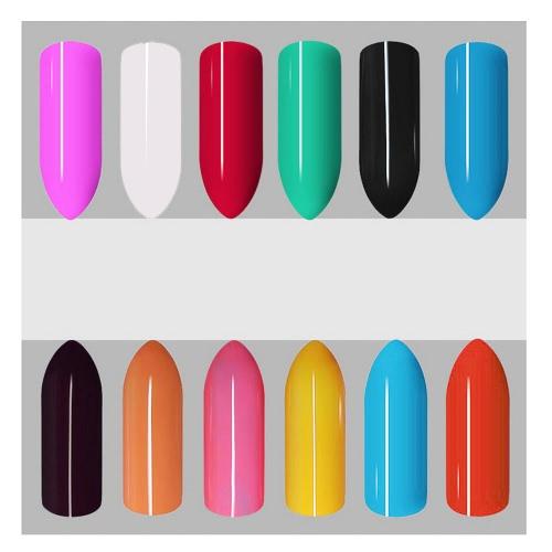 Anself 12st Mix reine Farben-Nagel-Gel-Polnisch-Erweiterung Profi UV Gel Set Builder Gel für Nagellack-Nagel-Kunst-Dekorationen Werkzeuge