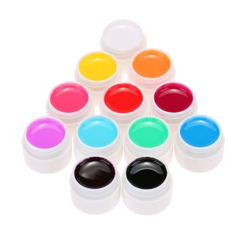 Anself 12шт Mix чистые цвета УФ-лак Гель лак Extension Профессиональная УФ-гель Набор Builder Гель для ногтей лак для ногтей искусство украшения инструменты