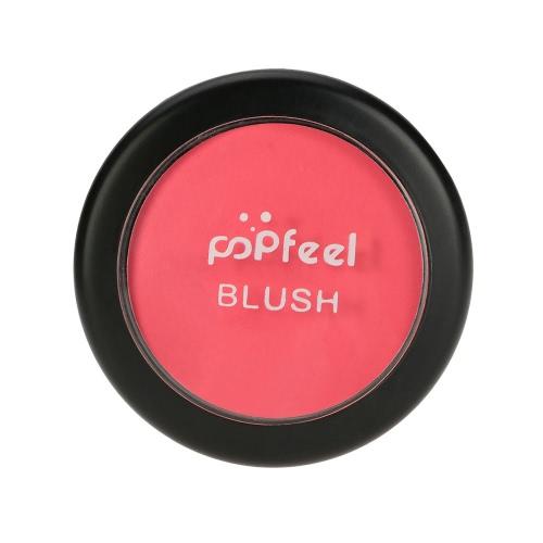 Maquillaje Popfeel cara colorete en polvo cosmético paleta de colorete en polvo # 1 Maquillaje 6 colores opcionales con Espejo Cepillo