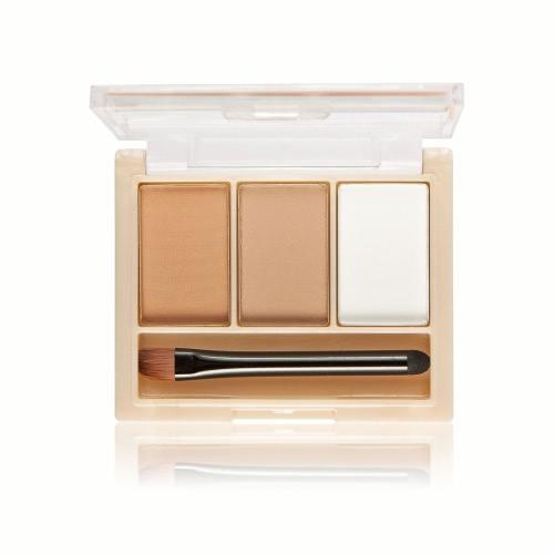 選択1#用の内蔵ミラー&ブラシ3色とMELOISIONブロウパウダーアイブロウパレットアイブロウキット眉毛のメイクアップ化粧品キット