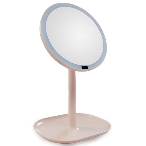 Настольный датчик 30 светодиодных осветительных макияжа тщеславие зеркало / 7-кратное увеличение зеркало Вращающаяся настольная подставка Косметика