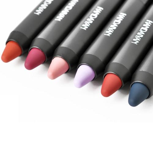 Модный губной помады Сексуальный длинный макияж Губный оттенок Водонепроницаемый пигмент Бархатный коричневый цветной голый матовый губной помады карандаш