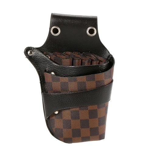 Cabelo Scissor coldre cabeleireiro Bolsa Bag Holder for Hair Stylist Rivet clipes cintura Shoulder Belt incluído PU Leather