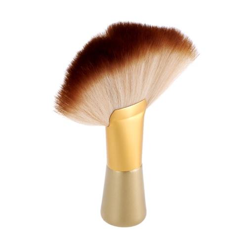Haar-Ausschnitt Pinsel Friseur Reinigung Hals Duster Fan-förmigen Schleife-Bürsten-Gesichts-Duster Professionelle Friseurwerkzeug für Salon
