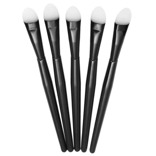 5pcs Conjunto de escova de maquiagem de silicone Kit de escova Professional Sombra Kit Facial Cosmetic Tools for Woman White