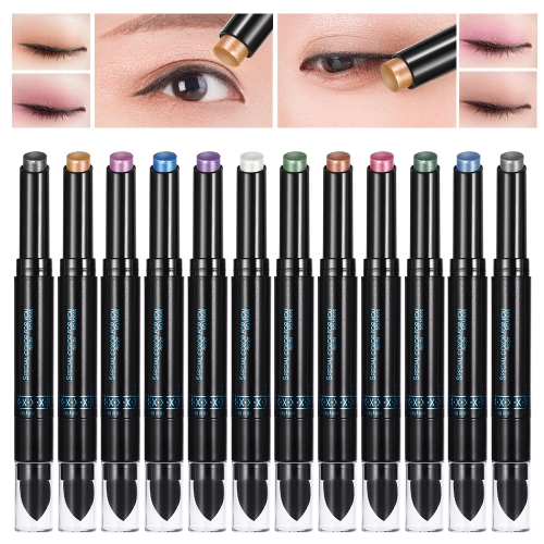 Anself 12Pcs Music Flower Eyeshadow Pigment Pen Stick Pencil Double-ended Waterproof Eye Shadow Shimmer Long-lasting