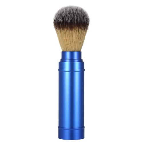 Cepillo de afeitar puro Badger Cepillo de limpieza blaireau Blaireau extraíble Cepillo de limpieza facial portátil Mango de aluminio