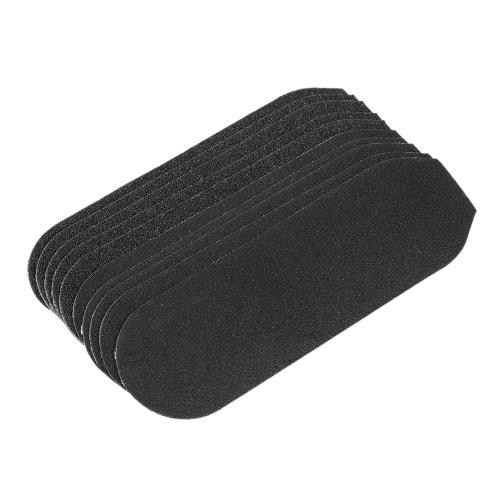 10pcs Sandpapers Coarse Fine Sandpapers Ersatz für Edelstahl doppelseitige Fuß Rasp File Hard Skin Callous Remover Fußpflege Werkzeug
