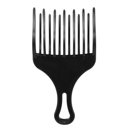 1Pc Peinado de Pelo Inserción Afro Pelo Peine Peine Peine Peine Plástico Alto y Bajo Peine de Engranaje Peluquería Styling Herramienta Negro para Hombre y Mujer