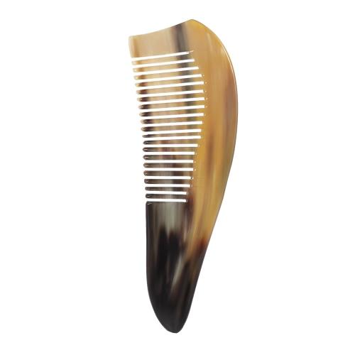 Природный рог-гребень Антистатический широкий зубной парик Массаж Расческа для волос Уход за волосами Расческа Рог Массаж Расческа