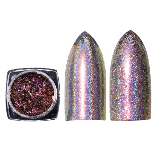 Glänzender Regenbogen-Laser-magischer Spiegel-Puder-Nagel-Kunst-Funkeln-Art- und Weisenagel-Dekoration-Frauen Nagel DIY