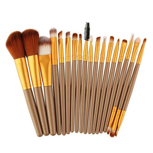 18Pcs Cosmetic Tools Make-up Kit de tratamento de lã Primer Escova profissional