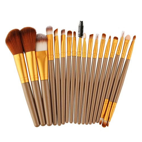 18Pcs Kosmetikwerkzeuge Make-up Toilettenartikel Wolle Primer Profi Pinsel Set
