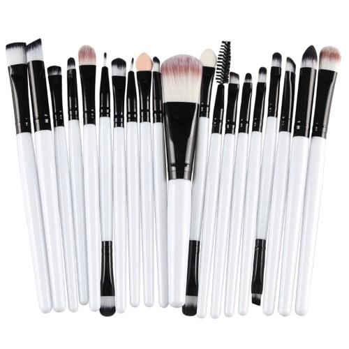 20PCS Professional Eye Shadow Foundation Кисти для губ для губ Макияж для кисточек Набор туалетных принадлежностей Комплект шерсти Pinceau Maquillage Professionnel