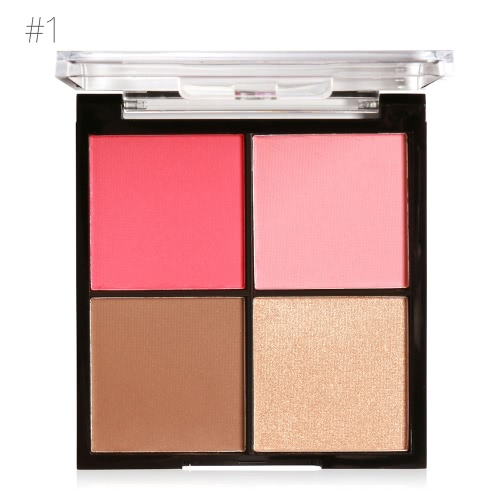 MARIA AYORA 4 Farbe Rouge Pallete Gesicht Make-up Puder Gesicht Rouge Pulver Palette Kosmetik Blush Set