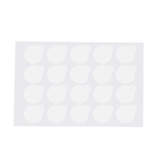 500pcsプロの使い捨て可能なまつげエクステンショングルーステッカーパッチアイラッシュエクステンショングルーステッカーパッド接着剤パレット
