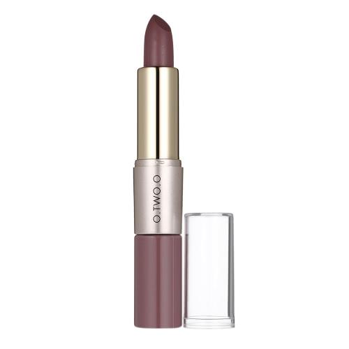 O.TWO. 2 en 1 batom lápiz labial mate + Líquido Lipgross Impermeable Tint Lady Long Lasting Maquillaje Beauty Matte labio Stick