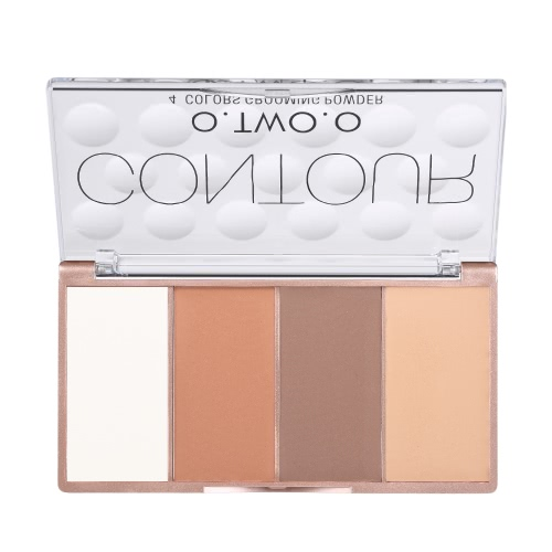 O.TWO.O 4 Farben Contouring Concealer Creme-Palette-Kit Gesicht Basis Foundation Primer Make-up Creme-Palette Set